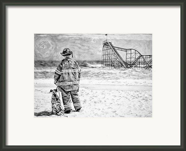 Hurricane Sandy Black And White Framed Print By Jessica Cirz