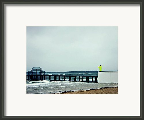 Hurricane Sandy In Hyannis Framed Print By Karissa Boivin