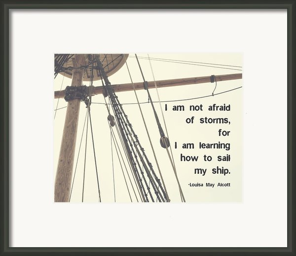 I Am Not Afraid Framed Print By Marianne Beukema