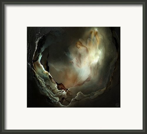 I Believe In Angels  Do You Framed Print By Gun Legler