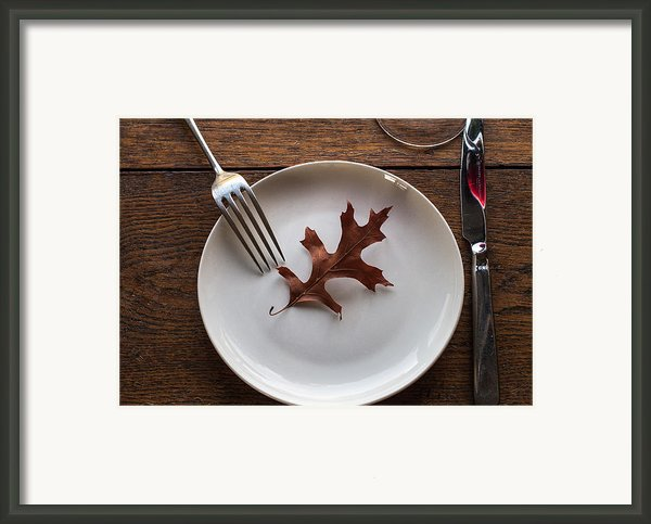 I Give You Autumn On A Plate Framed Print By Constance Fein Harding