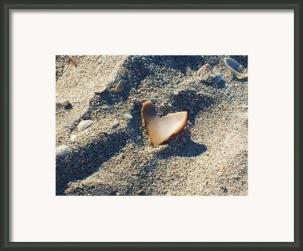 I Heart The Beach Framed Print By Anna Villarreal Garbis