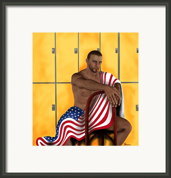 I Love America Framed Print By Jason  Donaire