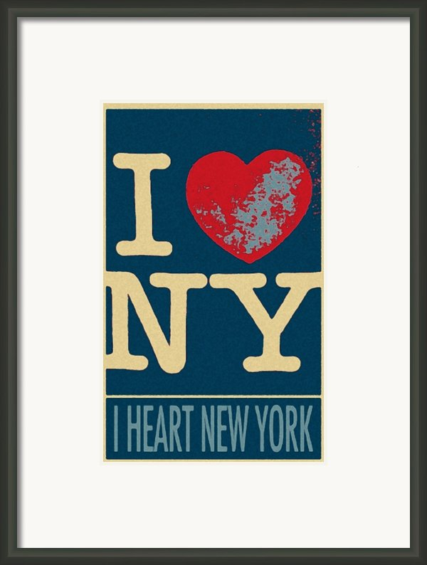 I Love New York In Hope Framed Print By Rob Hans