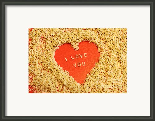 I Love You Framed Print By Lars Ruecker