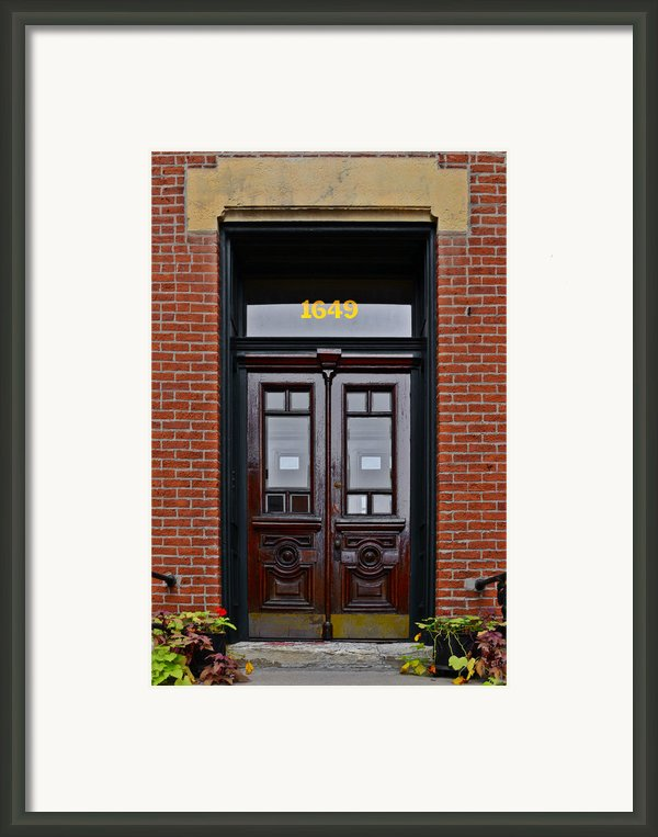 I See A Red Door Framed Print By Christine Till