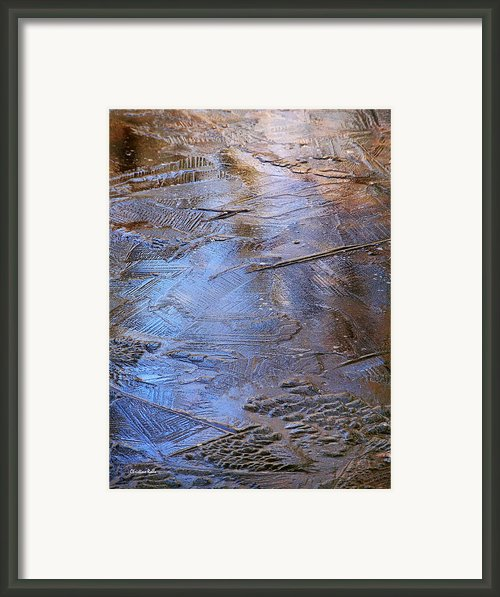 Ice Cold Nature Abstract Framed Print By Christina Rollo
