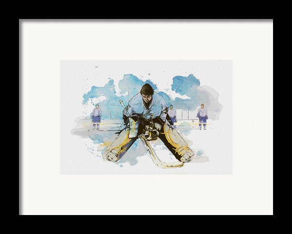 Ice Hockey Framed Print By Corporate Art Task Force