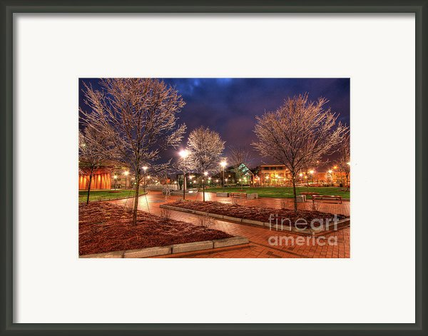 Ice In The Park - Greensboro Framed Print By Dan Carmichael
