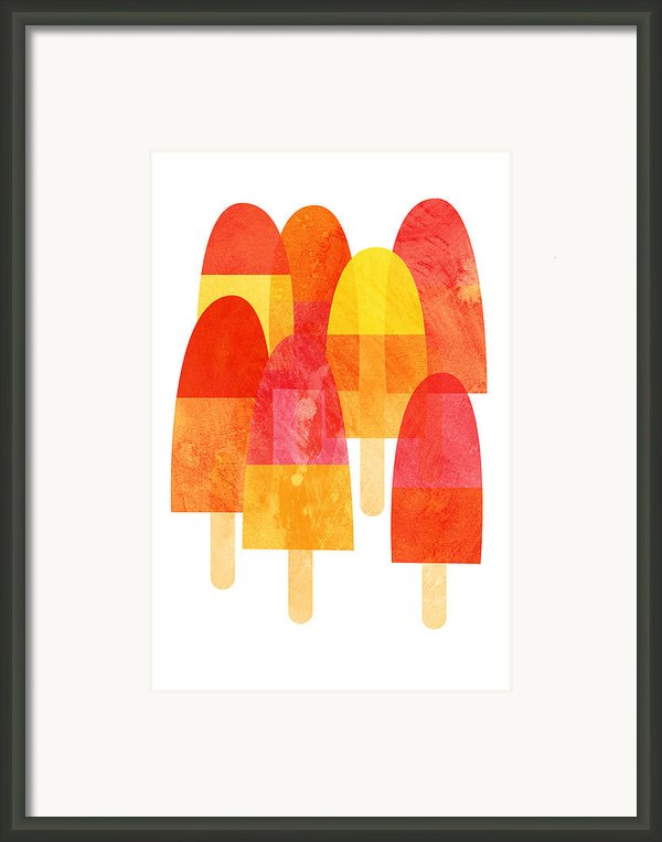 Ice Lollies Framed Print By Nic Squirrell