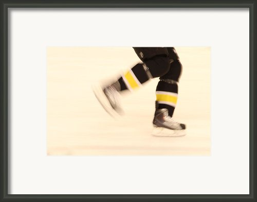 Ice Speed Framed Print By Karol  Livote