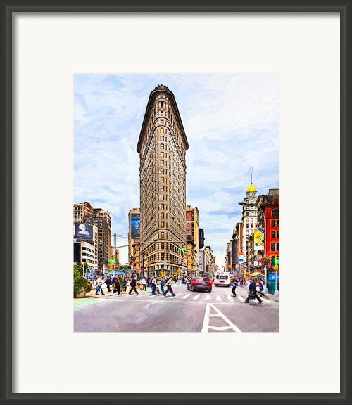 Iconic New York City Flatiron Building Framed Print By Mark E Tisdale