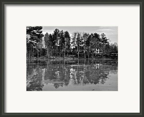 Icy Pond Reflects Framed Print By Robert Harmon