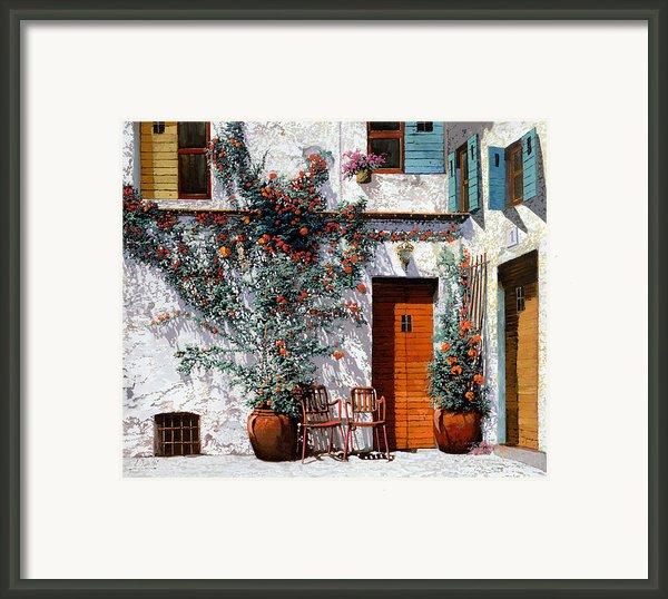 Il Cortile Bianco Framed Print By Guido Borelli