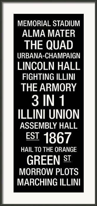 Illinois College Town Wall Art Framed Print By Replay Photos