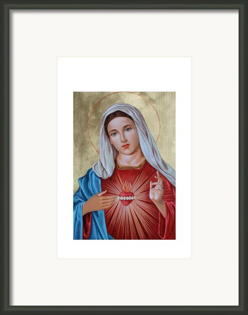 Immaculate Heart Of Mary Framed Print By Janeta Todorova