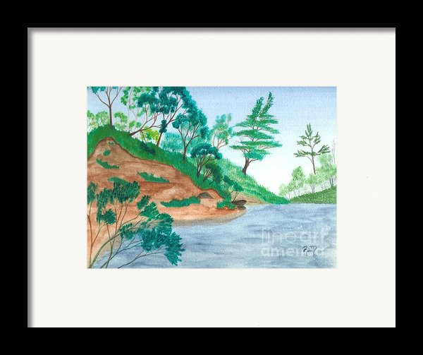 In A Mine Pit Framed Print By Robert Meszaros