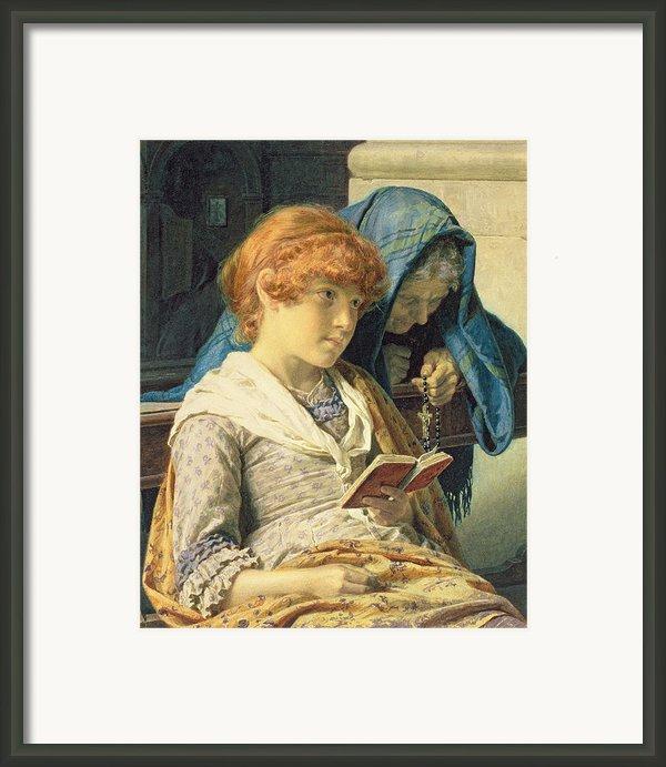 In Church Framed Print By Luigi Da Rios