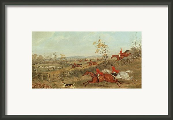 In Full Cry Framed Print By James Russell Ryott