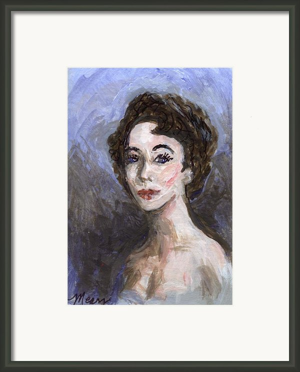 In Memory Of Elizabeth Taylor Framed Print By Linda Mears