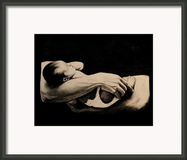 In My Arms Framed Print By Caroline  Reid