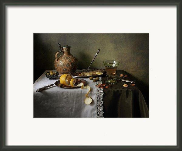 In Olive Tones  Framed Print By Helen Tatulyan