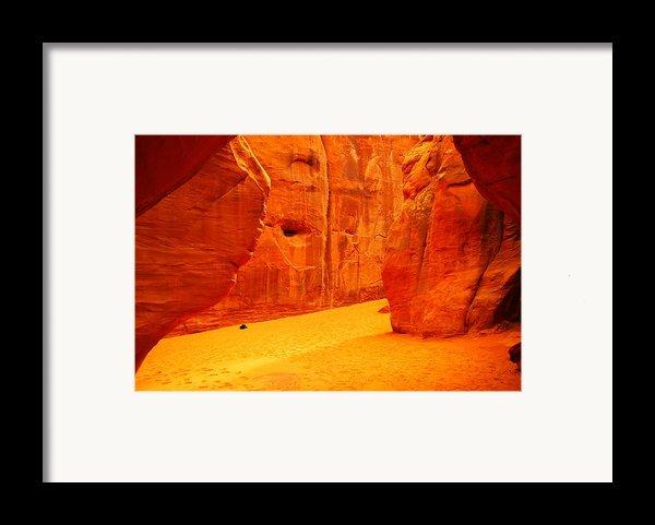 In Orange Chasms Framed Print By Jeff  Swan