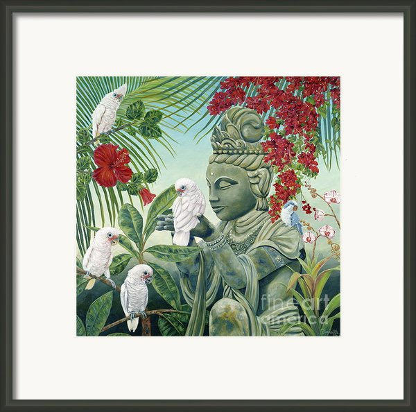 In The Company Of Angels Framed Print By Danielle  Perry
