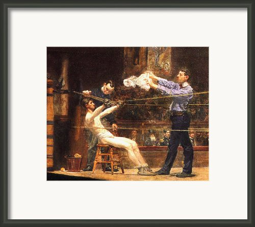 In The Mid Time Detail Framed Print By Thomas Eakins