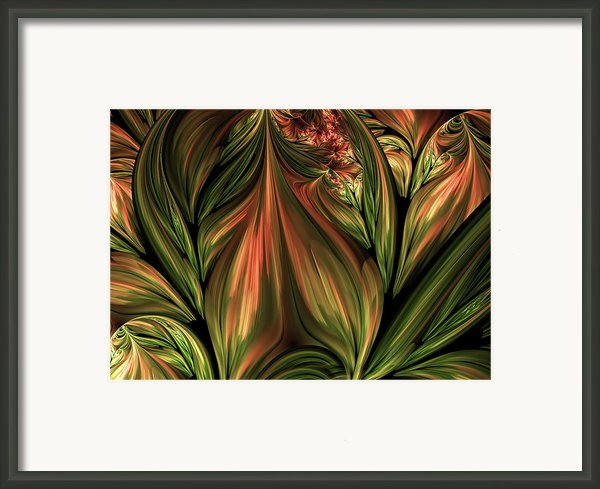 In The Midst Of Nature Abstract Framed Print By Zeana Romanovna