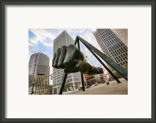 In Your Face -  Joe Louis Fist Statue - Detroit Michigan Framed Print By Gordon Dean Ii
