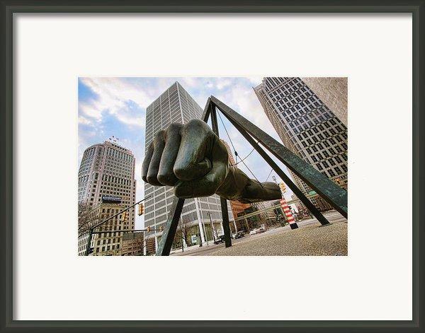 In Your Face -  Joe Louis Fist Statue - Detroit Michigan Framed Print By Gordon Dean Ii