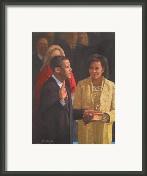 Inauguration Of Barack Obama Framed Print By Noe Peralez