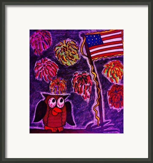 Independence Day Framed Print By Christy Brammer