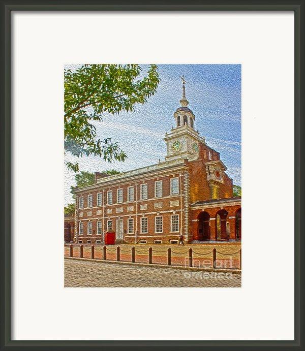 Independence Hall Philadelphia  Framed Print By Tom Gari Gallery-three-photography