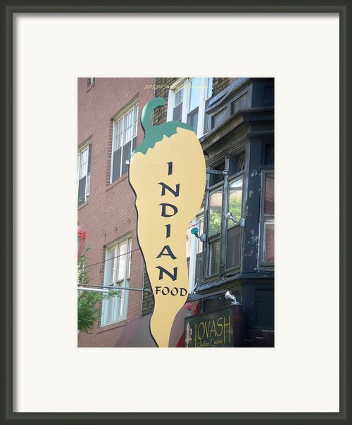 Indian Food Framed Print By Sonali Gangane