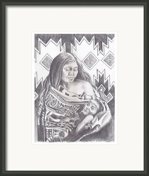 Indian Mother And Child Framed Print By John Keaton