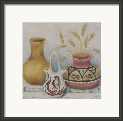 Indian Pots Framed Print By Summer Celeste