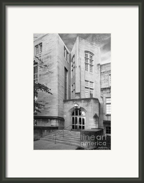 Indiana University Bryan Hall Framed Print By University Icons