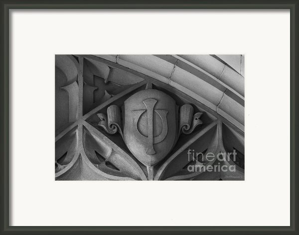 Indiana University Jordan Hall Detail Framed Print By University Icons