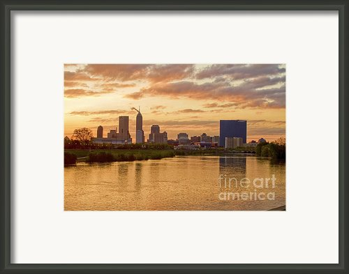 Indianapolis Sunrise Framed Print By David Haskett