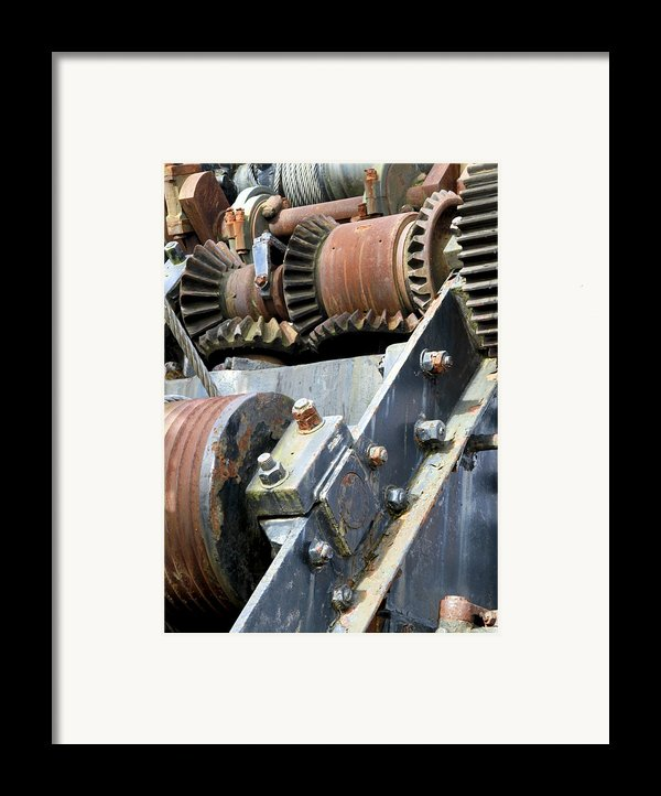 Industrial Cogs And Pulley Wheels Framed Print By Science Photo Library