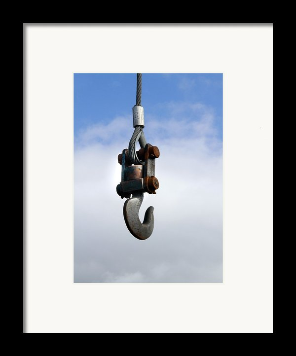Industrial Lifting Hook Framed Print By Science Photo Library