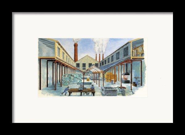 Industrial Revolution 19th C.. Factiry Framed Print By Everett