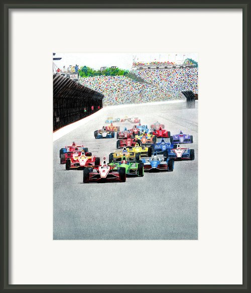 Indy Framed Print By Lyle Brown