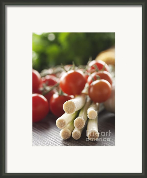 Ingredients For Tomato Sauce Framed Print By Mythja  Photography
