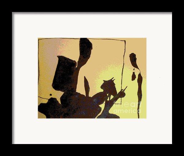 Ink Blot Framed Print By Helen Babis