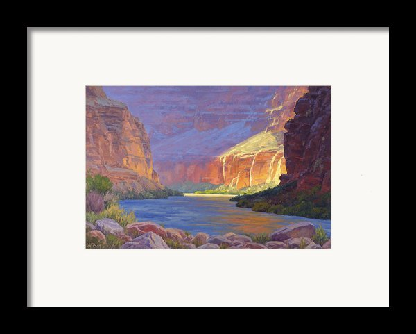 Inner Glow Of The Canyon Framed Print By Cody Delong
