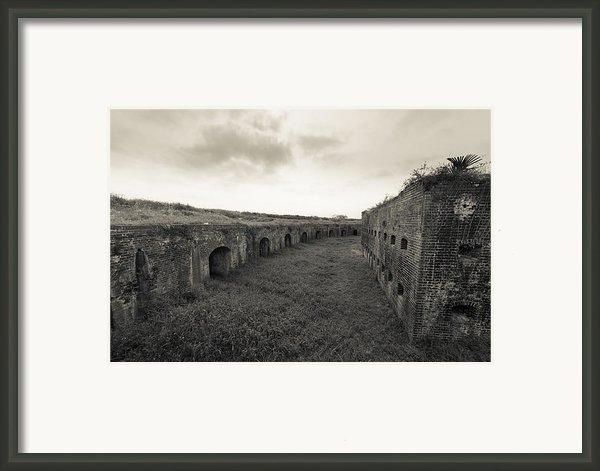 Inside Fort Macomb Framed Print By David Morefield