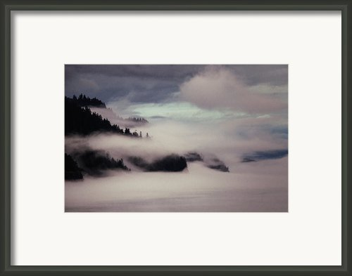 Inside Passage In The Mist Framed Print By Vicki Jauron